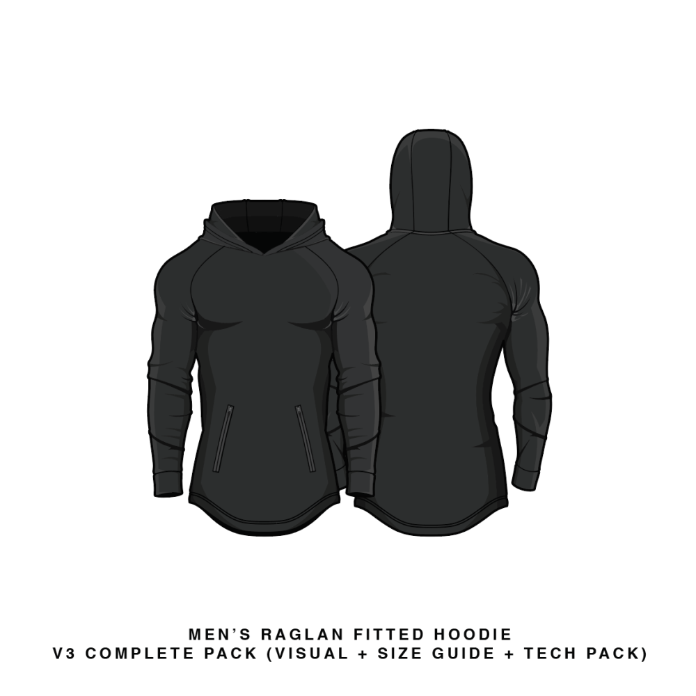 Fitted raglan hoodie v3 vector template hoodie fittdesign download fitted raglan hoodie v3 hoodie vector psd template pronofoot35fo Image collections