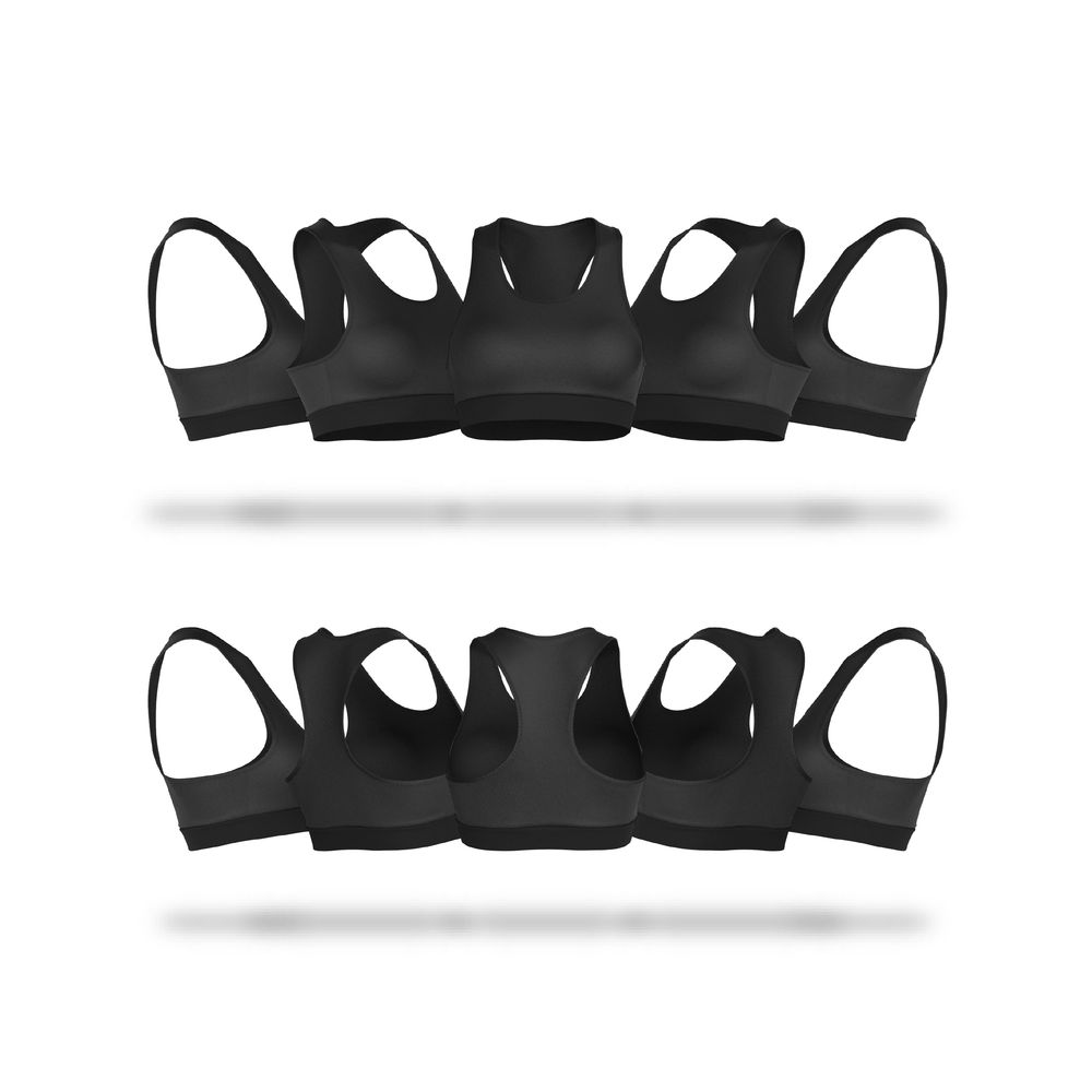 Download Ladies Sports Bra V4 Sports Bra Vector & PSD Template