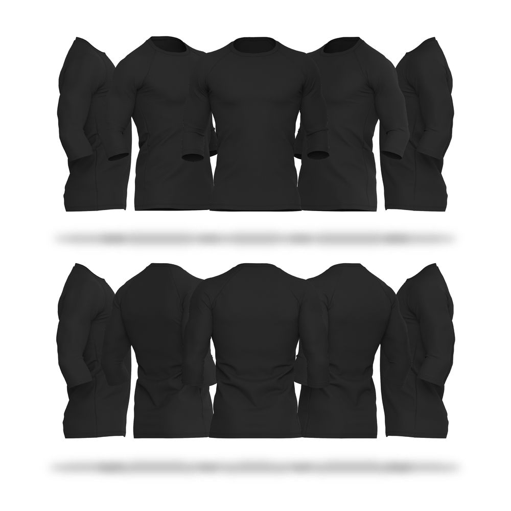 Download Mens Raglan 3Quarter Sleeve V4 Shirts Vector & PSD Template